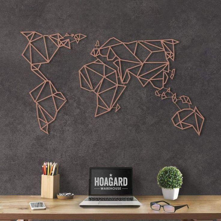 World Map Bronze Farmhouse Pinterest Metal Wall Art