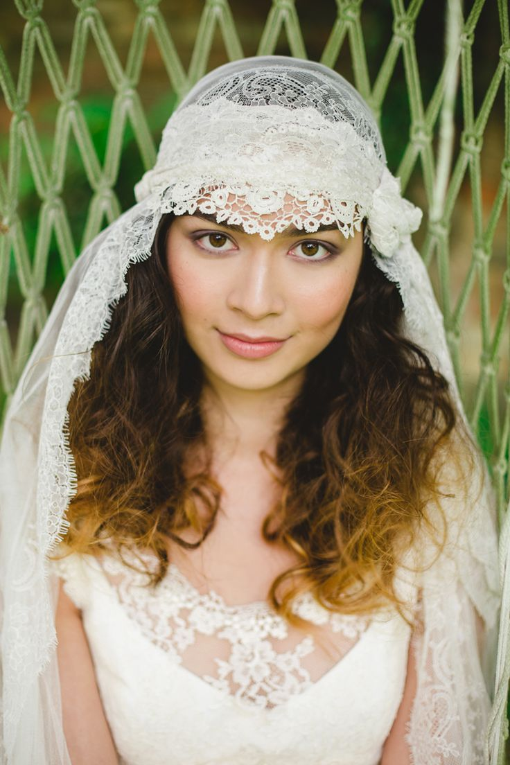 Bridal tiaras and veils - Midsummer Bohemia Bridal Veilswedding