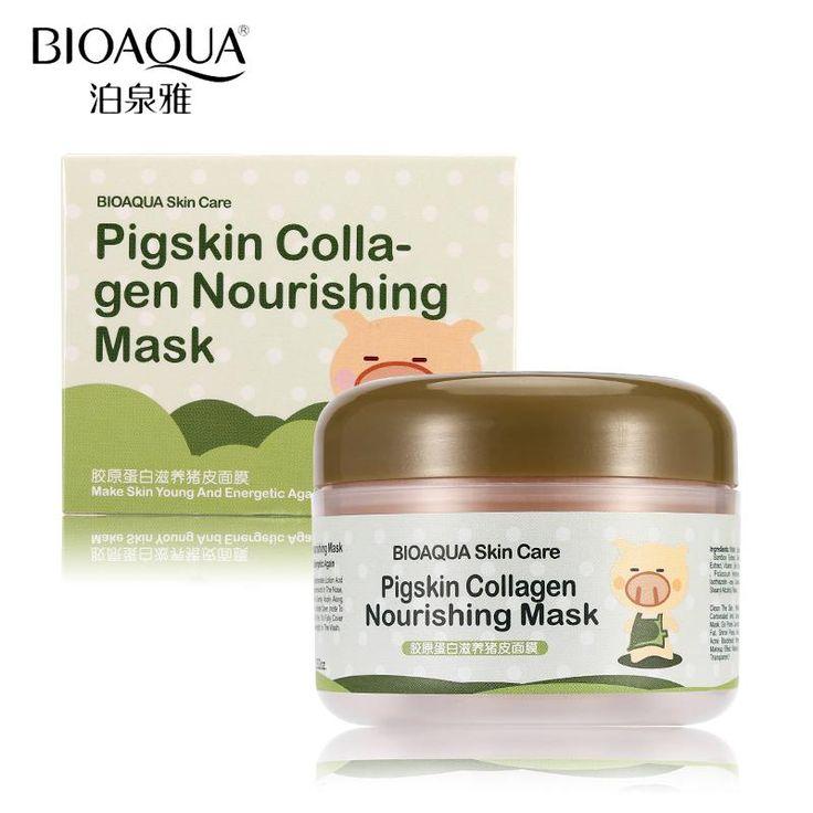 BIOAQUA Brand Face Skin Care Pigskin Collagen Sleeping Mask Acne Black Head Blackhead Treatment Nourish Moisturizer Facial Masks