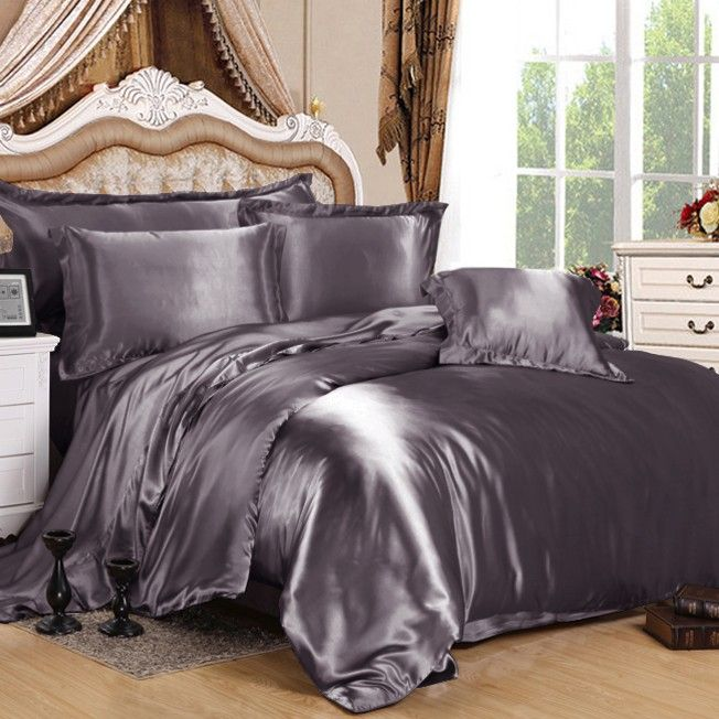 100 pure mulberry silk our charcoal grey silk duvet cover will bring you an - Silk Bedding
