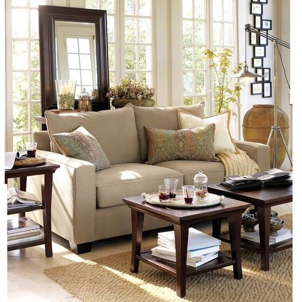 Pottery Barn PB Comfort Square Upholstered Sofa ($989) ❤ Liked On Polyvore