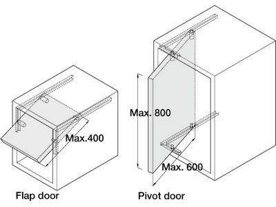 Pivot Sliding Door Fittings For Lightweight Doors And