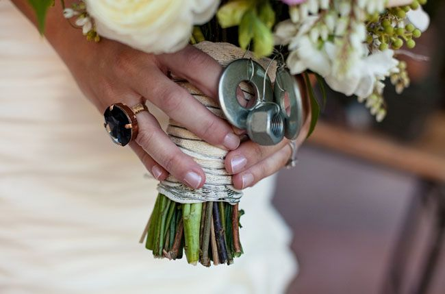Industrial Romance themed shoot on Green Wedding Shoes