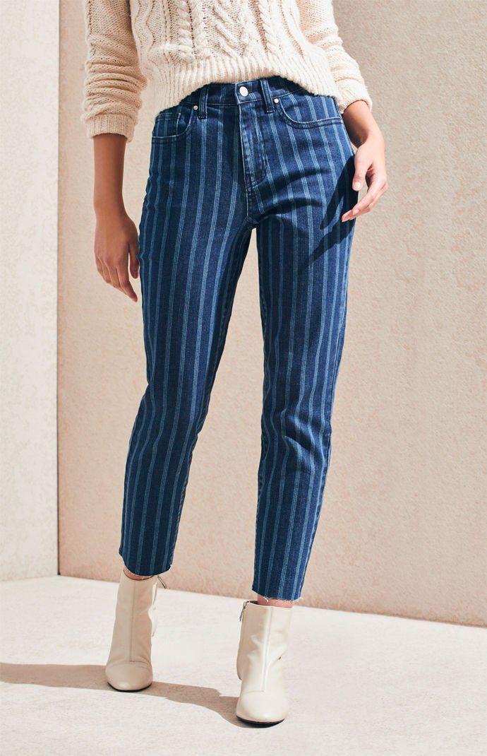 Fine Line Stripe Vintage Icon Mom Jeans PacSun