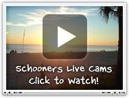 Schooners Live Cam. Schooners at PCB seems to be the local's recommendation for dinner of the other touristy fried fish, beachy places, over Pineapple Willy's, Hunt's, Dusty's, Scampy's, etc.