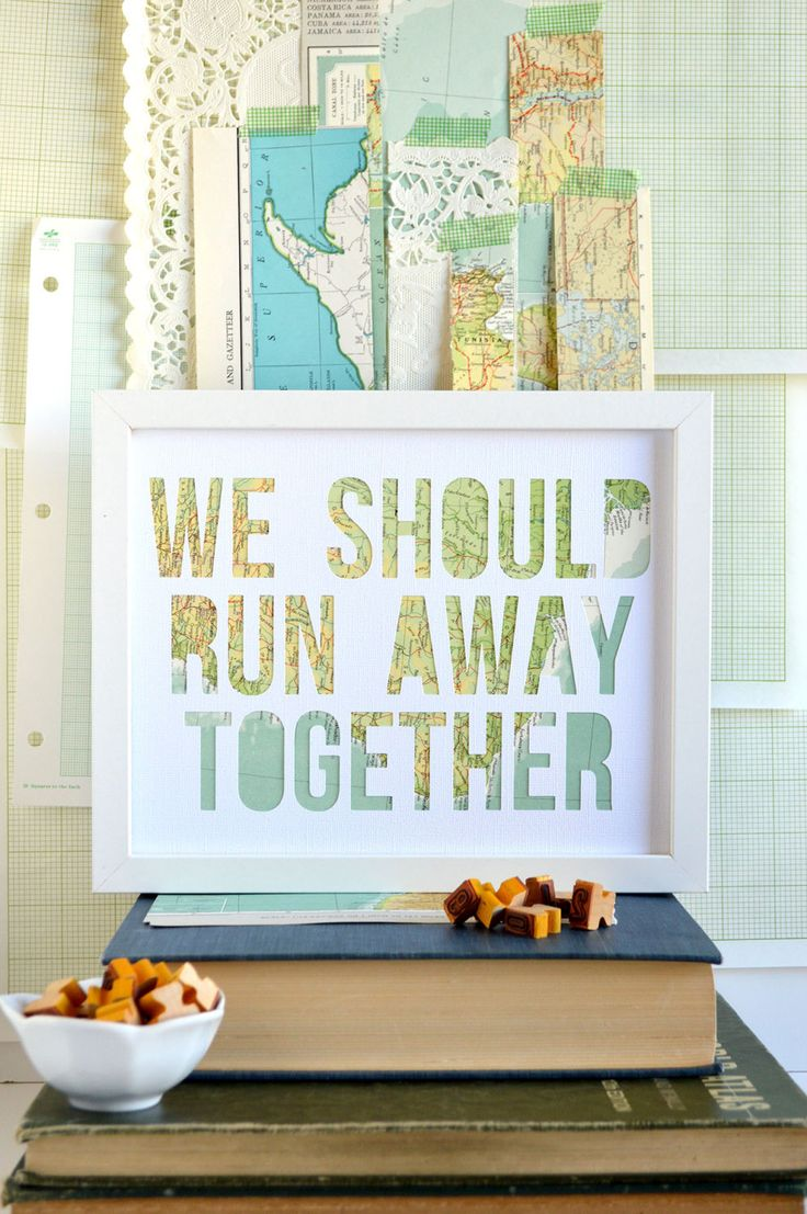 New to typeshyshop on Etsy: Romantic Anniversary Gift For Boyfriend - Engagement Ideas - Unique Marriage Proposal Ideas - Pop the Question - We Should Run Away Together (32.00 USD)