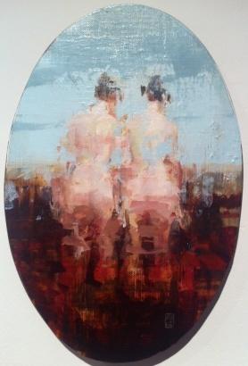 Alex Kanevsky - Untitled oil on board 28,5x19