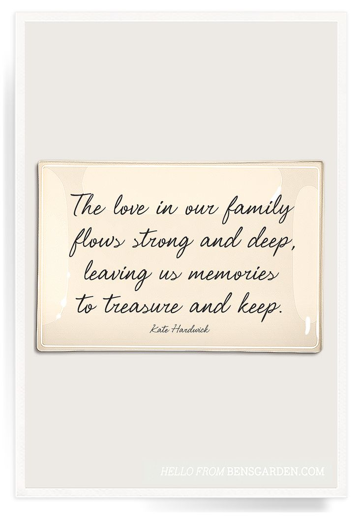 The Love In Our Family Decoupage Glass Tray