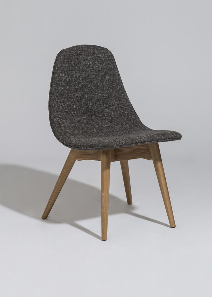 The Jane Side Chair uses bent plywood with an upholstered seat. Available…