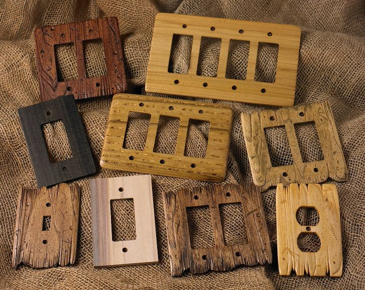 Rustic Wood Switch Plates From Rusticwoodstudio Com