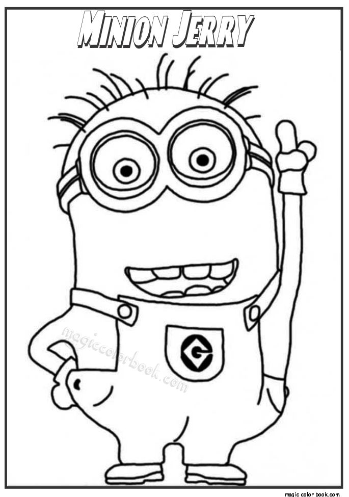 The Harajuku Minion Coloring Page Kids Play Color