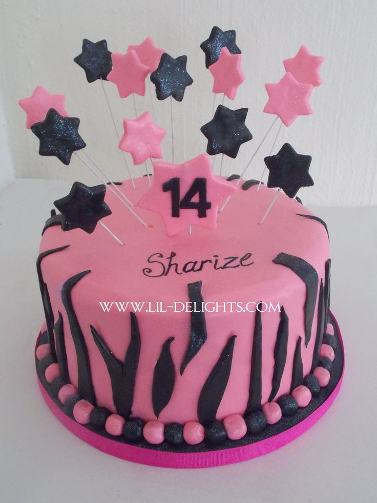 Funky girl's birthday cake