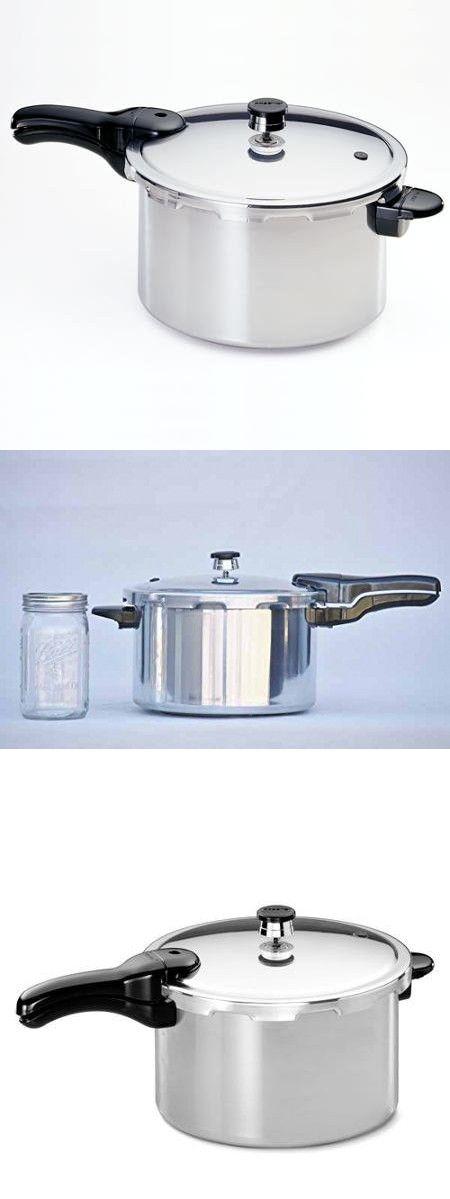 Strong, Heavy-Gauge Aluminum Pressure Cooker, 8-Quart Liquid Capacity