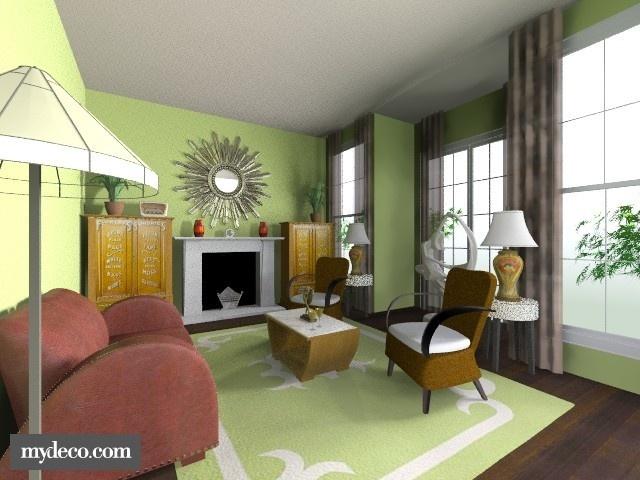 53 best images about art deco rooms on pinterest pink duvet covers ornaments ideas - Deco lounge parket ...