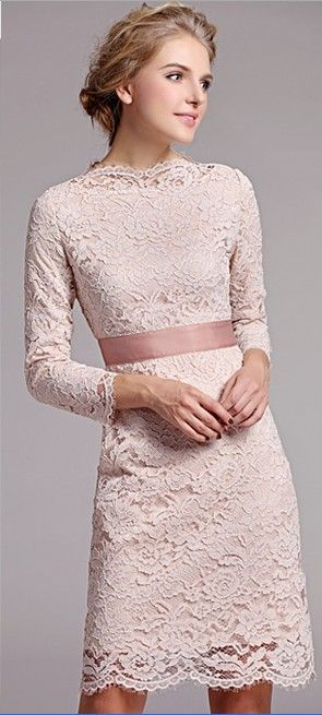 Elegant 3/4 Sleeves Lace Dress