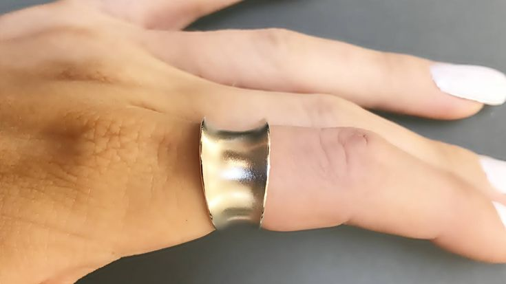Sterling Silver Wide Band Ring- 12mm with Anticlastic Bend by CopperfoxGemsJewelry on Etsy