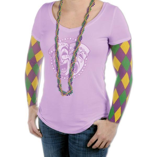 Mardi Gras Party Sleeves (12 Packs)