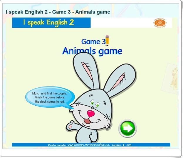 "I speak English 2: ""Animals game"""
