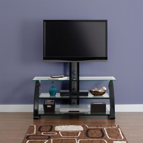 tv stand with mount walmart. hometrends sparta black 3-in-1 flat panel tv stand for tvs up to tv with mount walmart