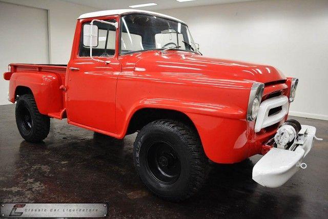 1958 International A120 4x4 Pickup, Straight 6/4 speed w ...