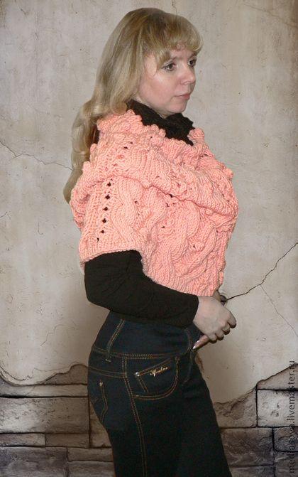 Снуд-пончо-юбка - оранжевый,однотонный,снуд,шарф-кольцо,шарф,шапка,пончо