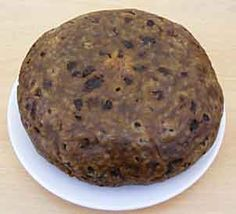 Clootie Dumplin. Should have a 'skin' by coating the cloot or cloth with flour. Everyone says that's the best bit.