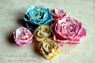 Anna Solnyshkina: МК бумажные цветы с помощью ножниц (без специальных ножей)!