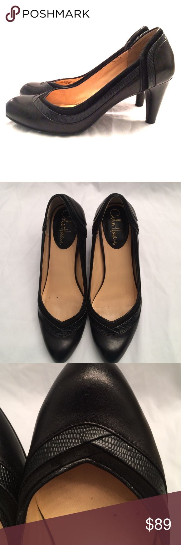 Cole Haan Nike Air Pumps Super comfortable with their Nike air technology and they have detail around whole shoe. Barely used size 7.5 with a 3inch heel. Cole Haan Shoes Heels