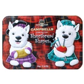 How cute are these? Dancing Westies Tin of shortbread