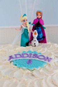 Disney Frozen Cake - Ombre Buttercream Frozen Party Ideas  www.christieblizzard.com