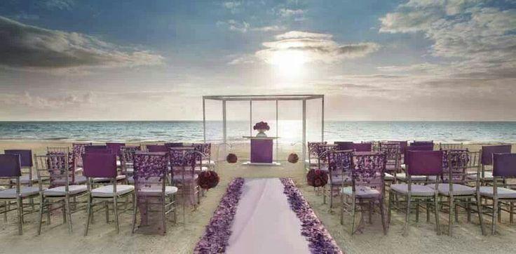 1000 Ideas About Purple Beach Weddings On Pinterest