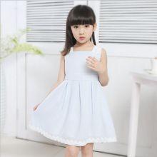 Meisjes jurk mouwloze jurk zomer stijl 2015 koreaanse kinderen kleding groothandel kleding prinses kant gd-155(China (Mainland))