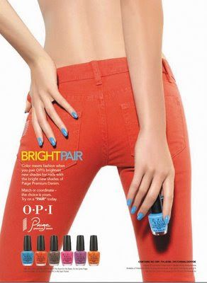 OPI Bright Pair Collection with Paige Premium Denim: Brights 2009