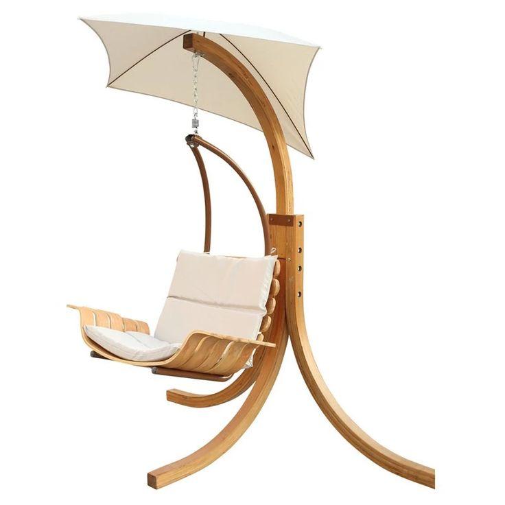Leisure Season Swing Chair with Umbrella | from hayneedle.com