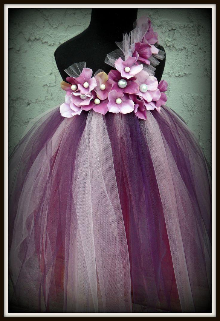 Purple flower girl dress. Think I already found the flower girl dresses!!! Different colors but super cute for a SEPTEMBER wedding!!! :)....Purple pearl flower girl tutu dress by gurliglam on Etsy!