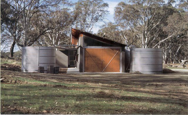 Architect Jonathan Feldman's green architecture blog...this image is of a house by the great Australian architect Glenn Murcutt who uses water tanks as part of the strongly geometric composition.