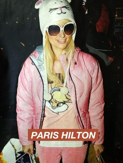 ★ Paris Hilton is an American businesswoman, socialite and fashion designer. Here she's wearing a Knitwits™ Original Hat.