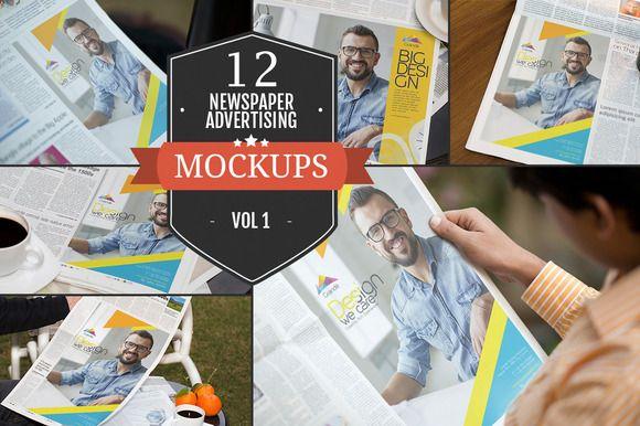 Newspaper Advertising Mockups Vol. 1 by ZippyPixels on @creativemarket
