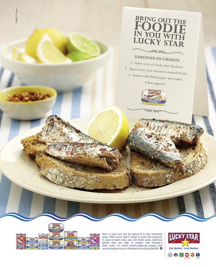 Enjoy this quick recipe for Sardine en Croute [that's Sardines on toast ;)]