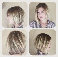 Short blonde a-line haircut courtesy of Frederic Fekkai Melrose Place Salon Stylist Jerome + Colorist Karine