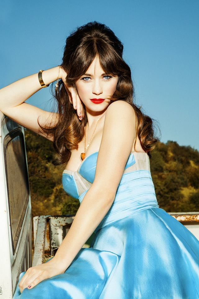 Zooey Deschanel in Glamour