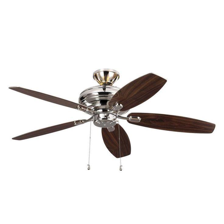 Monte Carlo Centro Max Uplight 52 In Indoor Polished Nickel Ceiling Fan In 2019 Ceiling Fan Polished Nickel Ceiling Fan Motor