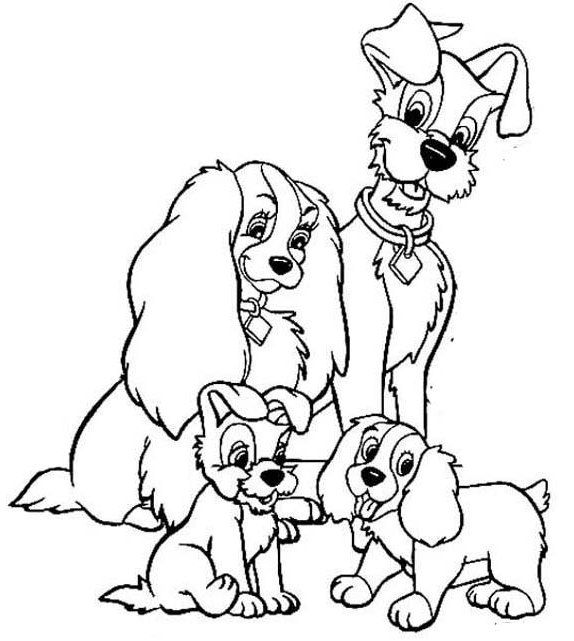 Best Lady And The Tramp Coloring Page For Kids Dog Coloring Book Dog Coloring Page Coloring Pages