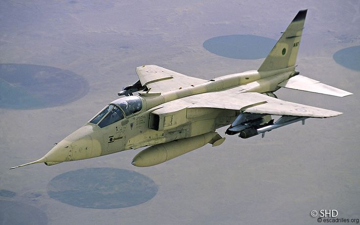 French Armée de l'Air Sepecat Jaguar during the first Gulf War. Last Jags withdrawn from French service on 1 July 2005.