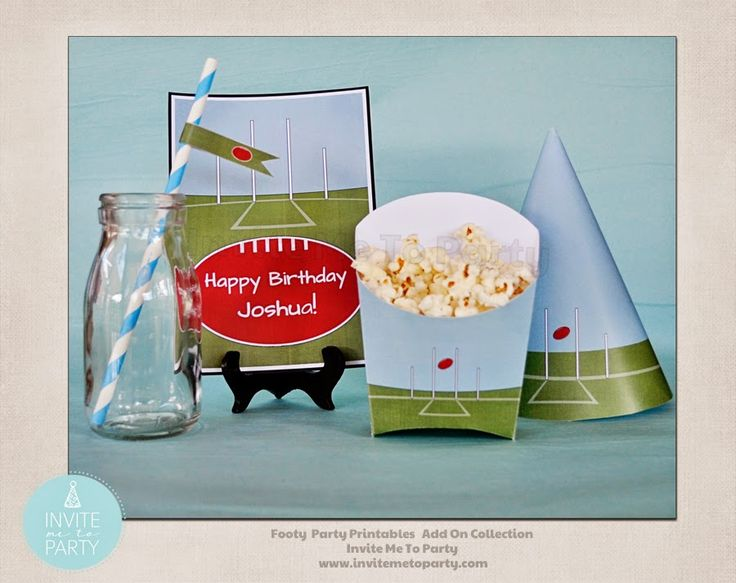 Football Party Decorations  Invite Me To Party: Footy - Aussie Rules Themed Birthday Invitation and Party Printables