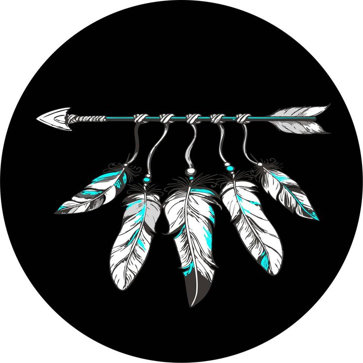 Feathers and Arrow Spare Tire Cover Jeep Wrangler Rubicon Liberty RV Trailer  ( ALL COLORS ) by SpareTireCovers on Etsy https://www.etsy.com/listing/578657526/feathers-and-arrow-spare-tire-cover-jeep