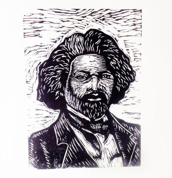 Frederick Douglass Art Linocut Print  Art Linocut Print Wall