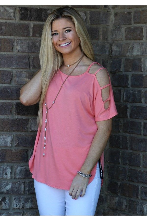 Just Like Honey Top- Coral