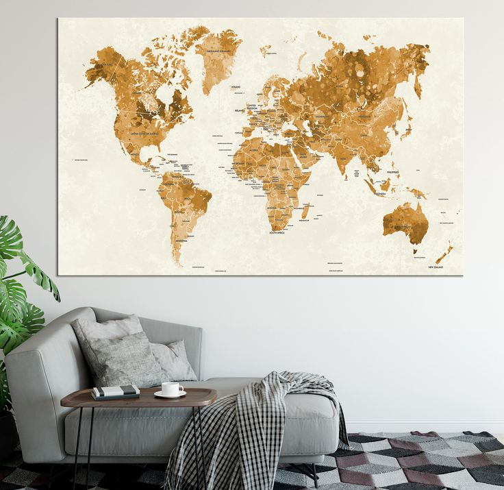 World map with country names decal picture ideas references world map with country names decal large gold world map wall art with countries names canvas publicscrutiny Image collections