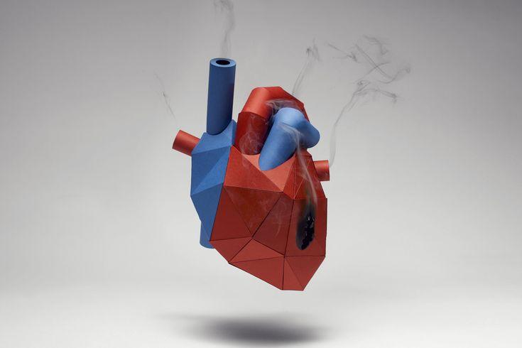 Kyle Bean, Heart (2012), illustration for Men's Health magazine